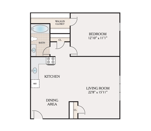 Floor Plans Placid Gardens Apartments For Rent In Highland Park